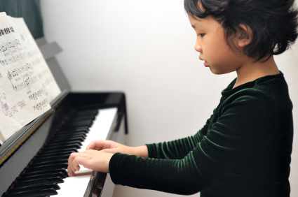 Piano lessons asian wife