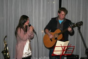 James Laurence ( guitar ) with singing partner Adrianna Musumeci